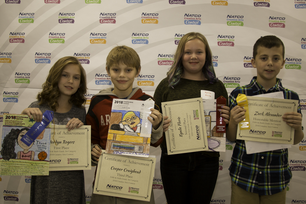 Group of 4 award winning children