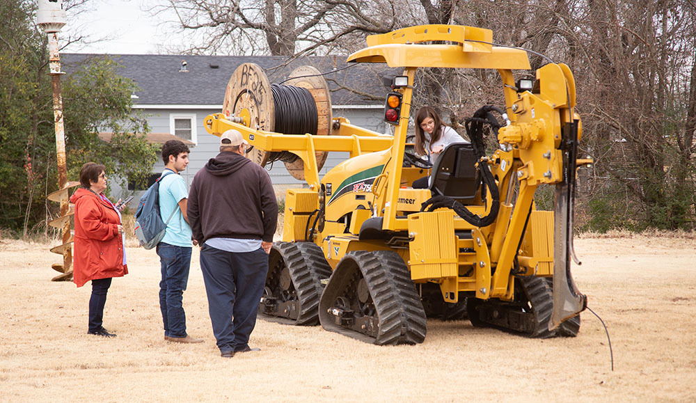 Students learn about construction careers