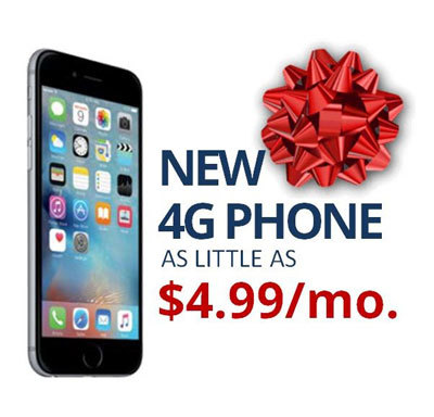 New 4G Phone as little as $4.99/Month