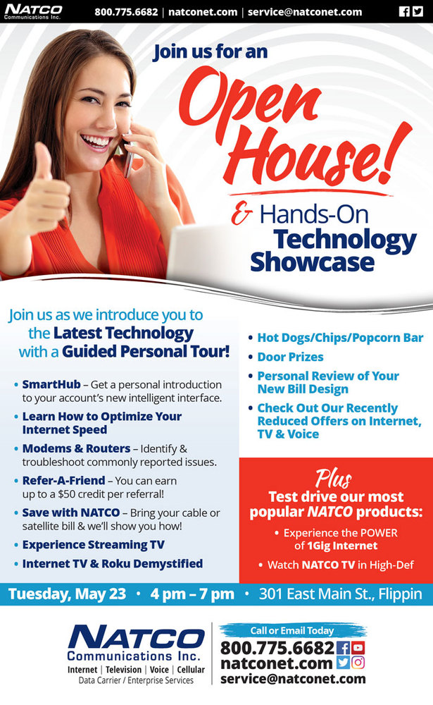 Open House and Technology Showcase informational flyer