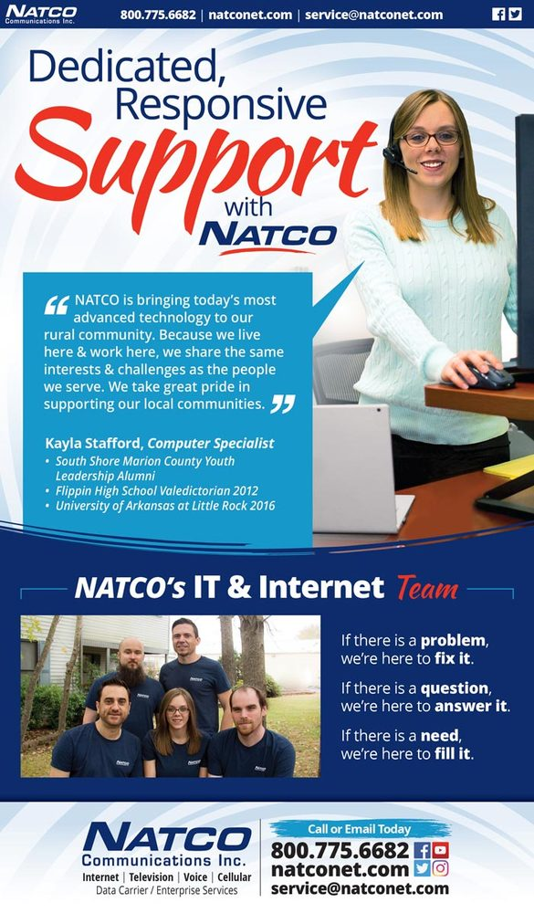 Dedicated, responsive support with NATCO Communications - eblast artwork