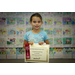 K 2nd Crystal Sosnowy holding her certificate